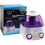 Vicks Starry Night Cool Moisture Humidifier | Self-regulating Evaporative System, Filters Impurities From The Water, Calming