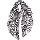 GERINLY Scarves - Animal Print Shawl Wraps Fashion Zebra Pattern Scarf