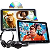 2020 Headrest DVD Player Car DVD Player 10.1'' Dual Car DVD Players with 2 Headphones Eonon C1100A for Kids Support Same/Diff