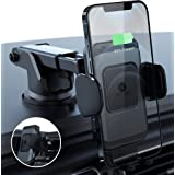 ZeeHoo Wireless Car Charger,10W Qi Fast Charging Auto-Clamping Car Mount,Windshield Dash Air Vent Phone Holder Compatible iPh