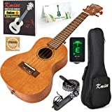 Kmise Concert Ukulele Kit Vintage Uke for Beginner With Starter Pack (Gig Bag Tuner Strap String Instruction Booklet) 23 Inch