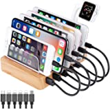 QC 3.0 Charging Station,AIZBO 60W 12A 6 Port Docking Stations & Desk Organizer with Quick Charge 3.0 & 5 Port USB Charger & R