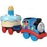 Thomas and Friends Birthday Wish Thomas, Musical Push-Along Toy Train Engine with Light-Up Birthday Cake
