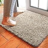 "Delxo 18""x30"" Magic Doormat Absorbs Mud Doormat No Odor Durable Anti-Slip Rubber Back Low-Profile Entrance Door Mat Large Cot"