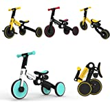 3 in 1 Toddler Bike Kids Tricycle Children Balance Bike Push Bicycle Pedal Trike Bike Removable Pedals Lightweight Portable F