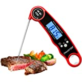 CHASSTOO Meat Thermometer, Digital Food Thermometer Probe, Instant Read Cooking Kitchen Thermometer with °F/°C Switch, IP67 W
