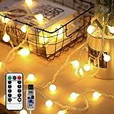 SFOUR フェアリーライト電飾led イルミネーションライト 6M50個LED USB電源 クリスマス 飾りツリー led電球庭 ライト屋外防水イルミ室内枕元 ライト ledに適してベッドルーム|アウトドア|結婚式|庭対応|誕生日 (電球色, 6)