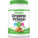 Orgain Peanut Butter Organic Plant Protein Powder, Peanut Butter, 920 grams
