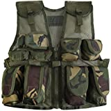 Kids Army Camouflage Combat Vest - Fits Ages 5-13 Yrs