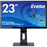 iiyama 23型ウルトラスリムラインフルHD液晶 (昇降/ピボット/スウィーベル/広視野角IPS/ノングレア/HDMI,D-Sub,DVI-D) XUB2390HS-B4