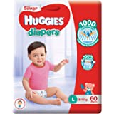 Huggies Silver Tape Diapers, Large, 60ct