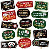 Las Vegas Casino Photo Booth Props by PartyGraphix - European Made Casino Theme Party Supplies - Las Vegas Party Decorations