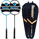 Senston N80 Graphite Single High-Grade Badminton Racquet, Professional Carbon Fiber Badminton Racket, Carrying Bag Included