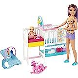 Barbie Skipper Babysitters, Inc. Nap 'n' Nurture Nursery Dolls And Playset