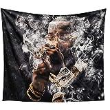 Pop Rap Smoke Meets 2 Album Smoke Hazy Art Tapestry Curtain Wall Hanging Art Bedroom Living Room Wall Decoration 59.1X51.2 in