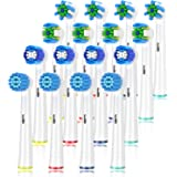 Schallcare Generic Replacement Brush Heads, Compatible with Braun Oral b electric toothbrush,includes 4 Floss, 4 Cross, 4 Pre