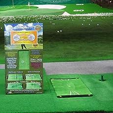 ゴルフ 練習 マット クラブ ヘッド が触れると色が変わり、ダフリ具合と軌道がわかる。 練習場でフルショット、自宅でアプローチ。ダウンブローマスター特許・商標出願中