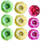 Elastic Food Storage Covers Reusable Stretch Plastic Wrap Bowl Covers Alternative to Foil for Family Outdoor Picnic 3 Size (6