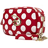 Loungefly x Disney Mickey and Minnie Mouse Inspired Polka-Dot Crossbody Purse