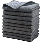 (12inchx12inch, Greyx9) - Microfiber Dish Cloths Super Absorbent Kitchen Wash Cloth Dish Rags for Washing Dishes Fast Drying