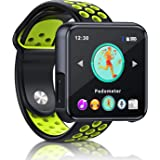 SEWOBYE Portable MP3 Player with Bluetooth, Bluetooth MP3 Player Watch, Bluetooth Music Player Touchscreen