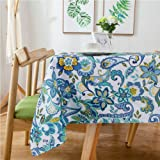 "Lamberia Tablecloth Waterproof Spillproof Polyester Fabric Table Cover for Kitchen Dinning Tabletop Decoration, Paisley, 52""x"