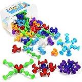 新感覚知育ブロック 98個セット 吸盤 おもちゃ 知育玩具 積み木 組み立て お風呂のおもちゃ オリジナル 誕生日 ハロウィン クリスマス プレゼント DIY スクイグズ 男の子 女の子
