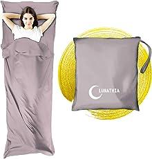 インナーシーツ シュラフ 寝袋 ライナー 封筒型 丸洗い 軽量 210 * 115cm キャップ アウトドア 車中泊 防災緊急用品 収納袋付き