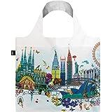 LOQI Artist Kristjana S Williams Interiors Reusable Shopping Bag, O/S, World Skyline