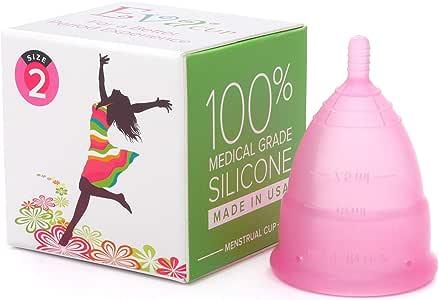 【月経カップ】エヴァカップ(EvaCup)初めてでも使いやすい生理カップ コットンポーチ付き/チェリーブロッサム(ピンク)・サイズ1(スモール)