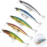 WANBY Proven Explosive Color Special Minnow Swimbait Vibrating Jigging Freshwater Saltwater Fishing Lures with Hook Fishing T