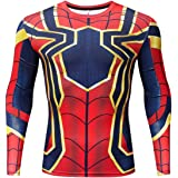 RONGANDHE Men's Super-Hero Compression Sports Fitness Spider T-Shirt Quick-Drying