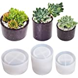 Round Pots Resin Molds ,Plant Pots Molds, 3 Sizes Plant Pots Silicone Molds Succulent Plants Concrete Planter Vase Molds for