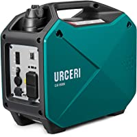 URCER インバーター発電機 1500W PSE認証 正弦波 AC出力 DC出力 3.4時間連続運転 50Hz 60H切替 過負荷保護 地震 災害 停電 小型 家庭用 アウトドアに適用 日本語取扱説明書付き 一年保証