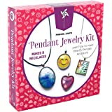 Pinwheel Crafts Jewelry Making Kit for Girls - Jewelry Craft Kit, Custom Glass Pendant Necklace Set for Kids or Teen Girl Gif