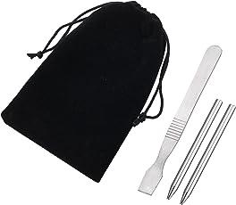 パラコードニードル ステンレス 針 裁縫道具 手縫い針 スクレーパー ホビー 手芸用品 クラフト用品 ハンドメイド 手作り道具 巾着袋付き 4点セット