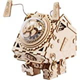 ROBOTIME DIY Wooden Submarine Puzzle 3D Laser Cut Music Box Craft Kit Seymour
