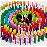 amazing hobby 天然木製 ドミノ 倒し 積み木 選べる 100個(12色) 200個(12色) 漢字(100個) ギミック(19個) 仕掛け (100(12色))