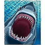 Great White Shark Fleece Throw Blanket