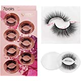 Wookit False Lashes 7 Styles Professional Reusable Eyelashes Natural Thick 3D Natural Look For Makeup Eyelashes Extension (7