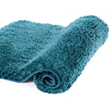 Walensee Large Bathroom Rug (24 x 40, Teal) Extra Soft and Absorbent Shaggy Bathroom Mat Machine Washable Microfiber Bath Mat