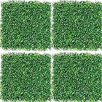 Umora グリーンフェンス リーフラティス 約50×50cm 人工観葉植物マット (ペペロミア・テトラフィラ 4枚)