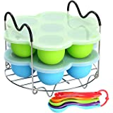Silicone Egg Bites Molds for Instant Pot Accessories 6 Qt 8 Quart, Including Steamer Rack Trivet with Heat Resistant Handles,