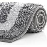 KMAT Ultra Bathroom Rugs and Bath Mat,Fluffy Soft Microfiber Machine Washable Bath Mat,Non-Slip and Super Absorbent Shaggy Sh