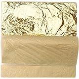 100 Sheets Leaves Imitation Gold Leaf for Crafts Decoration
