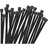 TEVADO 100 Pack Cable Zip Ties Heavy Duty 8 Inch, Premium Plastic Wire Ties with 50 Pounds Tensile Strength, Multi-Purpose Se