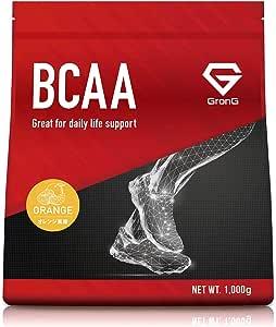 GronG(グロング) BCAA アミノ酸 オレンジ風味 1kg (100食分) 含有率82% 国産