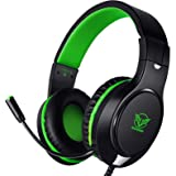 Karvipark H-10 Gaming Headset for Xbox One/PS4/PC/Nintendo Switch|Noise Cancelling,Bass Surround Sound,Over Ear,3.5mm Stereo