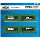 CFD販売 デスクトップPC用メモリ PC4-21300(DDR4-2666) 8GB×2枚 288pin (無期限保証)(Crucial by Micron) W4U2666CM-8G