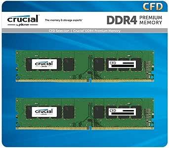 CFD販売 Crucial (Micron製) デスクトップPC用メモリ PC4-25600(DDR4-3200) 16GBx2枚 CL22 288pin 無期限保証 W4U3200CM-16G